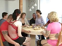 Дружная Немецкая компания порно порно