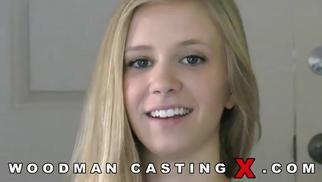 Получила сильно по дырочкам Рейчел Джеймс (Rachel James) на кастинге Вудмана. порно